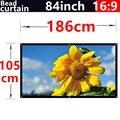 84 polegada 16:9 Bead cortina de tecido High-definition2.8 ganho de tela de projeção fixado na parede para todos os de baixa luminosidade led dlp projetores