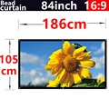84Inch 16:9 Bead curtain Fabric High-definition2.8 Gain projection screen Wall Mounted for all Low brightness led dlp projectors