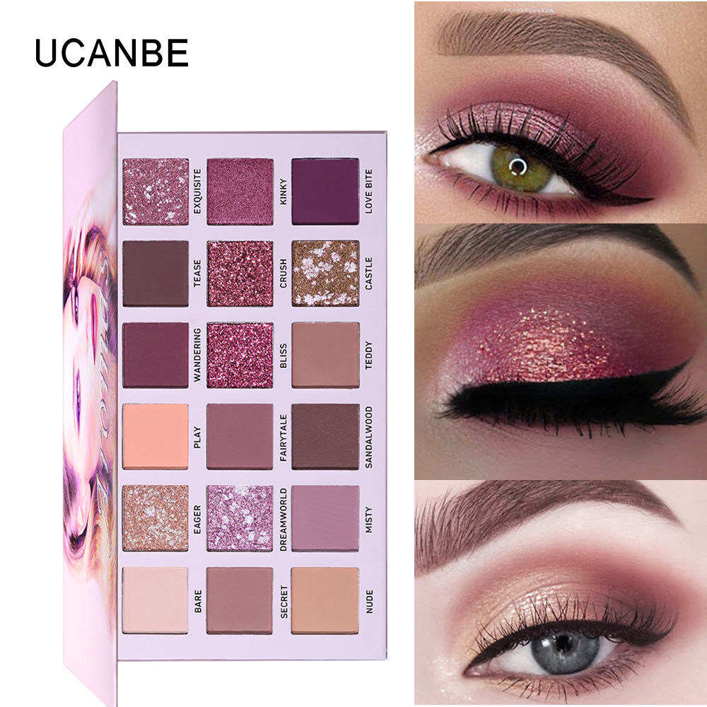 Eye Shadow Back To Search Resultsbeauty & Health Faithful Ucanbe Brand New Nude Eyeshadow Palette 18 Colors Glitter Matte Shimmer Shades Rosy Pink Eye Shadow Waterproof Beauty Makeup Kit
