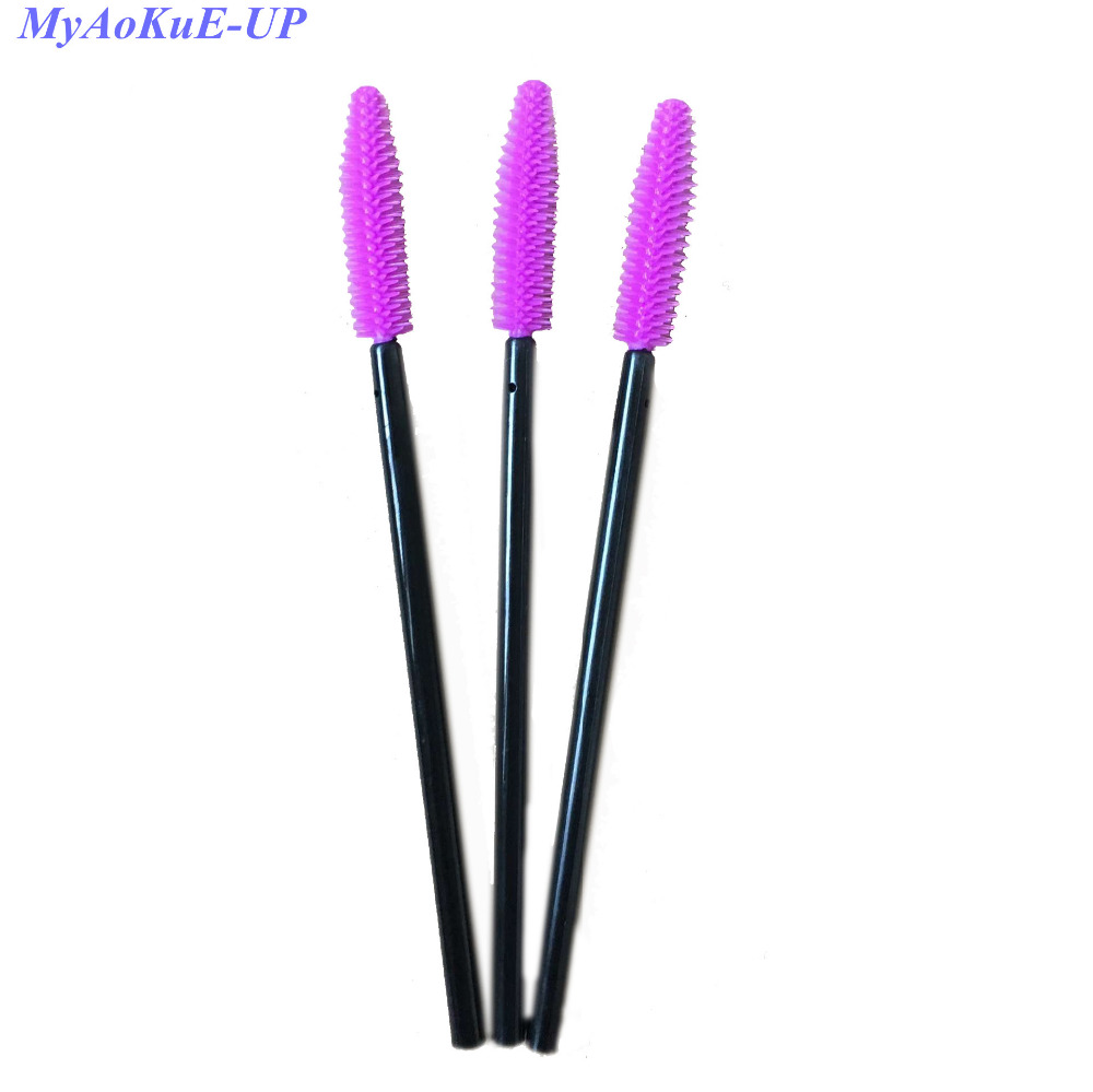Comb brush makeup tools 200 pieces disposable eyelash for Mascara with comb wand