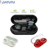 TWS 5,0 auriculares Bluetooth 3D estéreo inalámbrico del auricular con micrófono dual deportes auriculares estéreo Bass