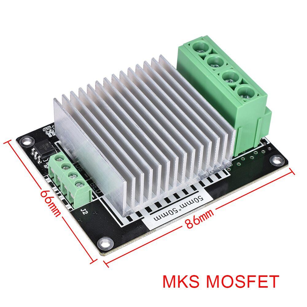 Piezas de impresora 3D controlador de calefacción MKS MOSFET para cama calentada/extrusora MKS módulo MOS excede 30 a soporte rampas de corriente grande 1,4
