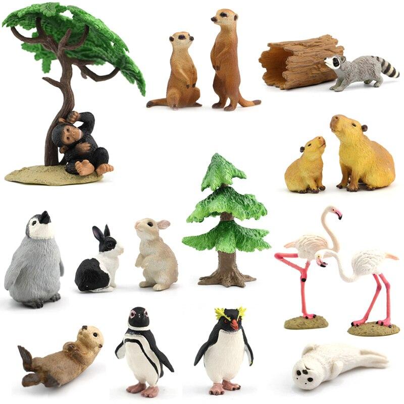 Japanese Genuine Rement Sealife Farm Wild Lion Animal King Sets Cute Sea Otter Raccoon Capybara Meerkat TIMON Figure Kids Gift