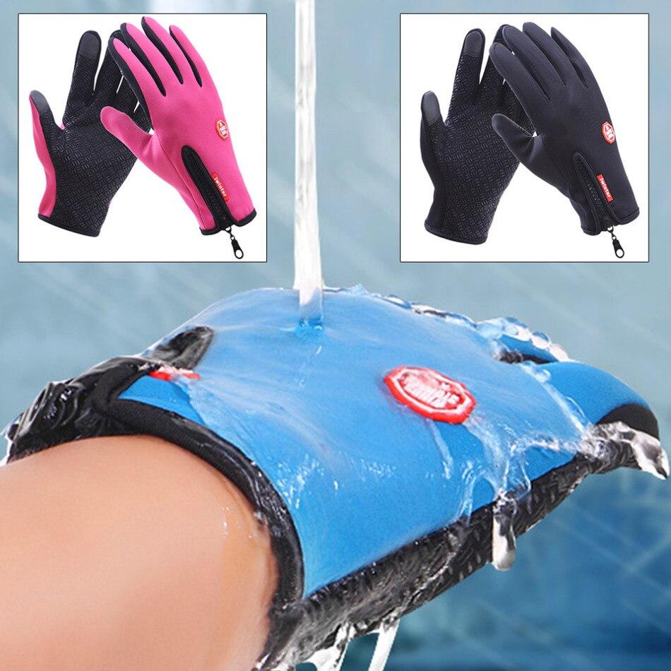 Mens ski gloves xl - Women Men Windproof Ski Gloves Snowboard Gloves M L Xl Motorcycle Riding Winter Touch Screen Snow Waterproof