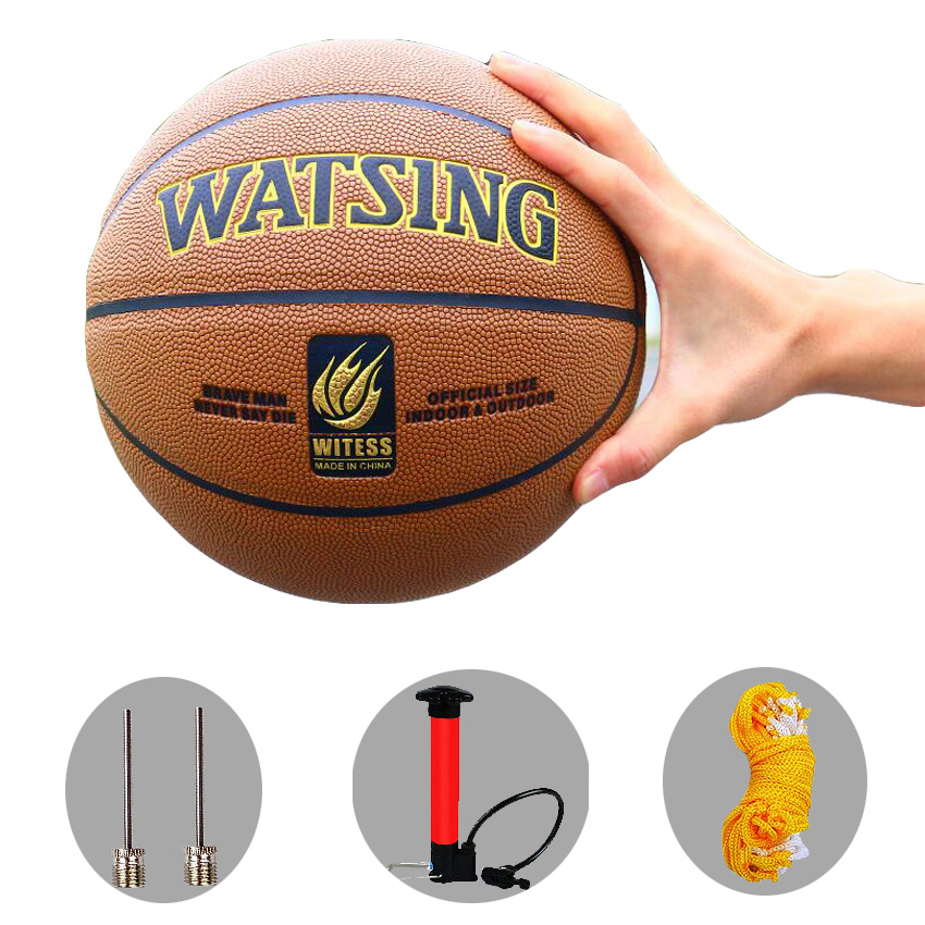 2019 New Brand Wear-resistant PU Leather Basketball Ball Official stuff Size7 Game basketball with free needle and net