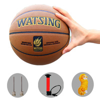 2019 New Brand Wear resistant PU Leather Basketball Ball Official stuff Size7 Game basketball with free needle and net