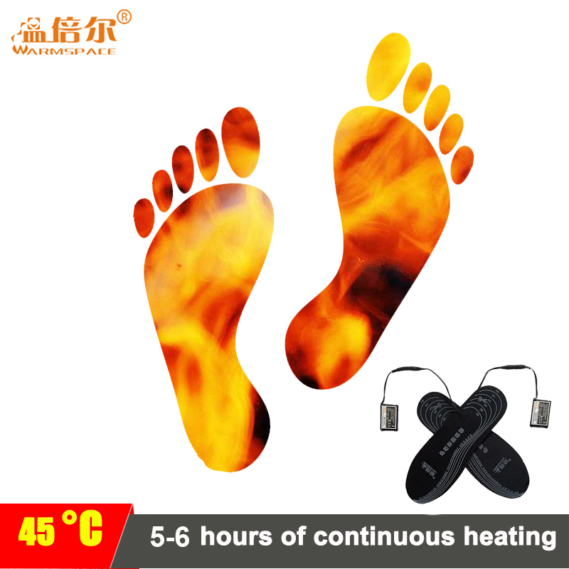 Unisex Rechargeable Heated Insoles 3.7V 2000mAh Feet Warming Insoles Thermal Electric Foot Warmer Heated Insoles Outdoor Sports