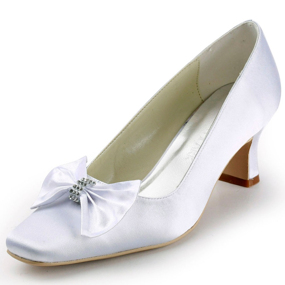 19dde88a19a7 White Ivory Woman Shoes Wedding Bridal Low Heels Comfort Mary Jane  Rhinestones Buckle Lace ladies bride Prom Party Pumps EP1085USD 42.70 pair