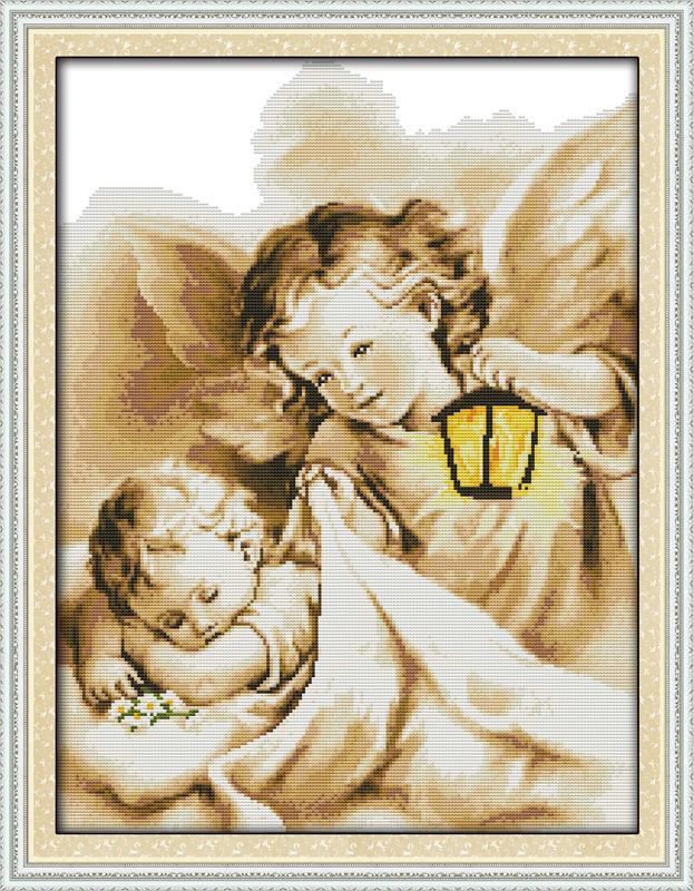Вышивка крестом ангел ребенок