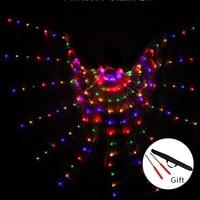 Women S Fiber Optic Costume Wings Egypt Belly Dance Isis Wings LED India Dancer Belly Dance