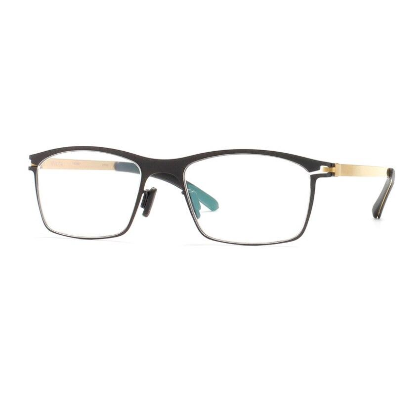 Allemagne marque Designer inoxydable montures De lunettes hommes Rectangle optique myopie lunettes cadre femmes lunettes Oculos De Grau