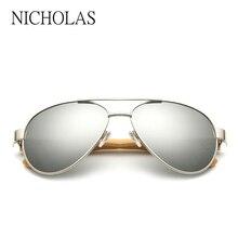 Retro de madera de Bambú Gafas de Sol Hombres Mujeres Marca Diseñador Gafas de Espejo de Oro madera gafas de Sol Mujer Hombre señora Eyewear oculos gafas de sol