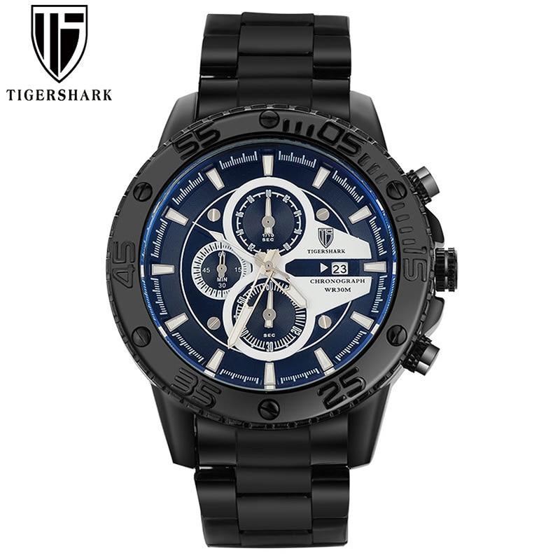 Mens Watches Top Brand Luxury Quartz Dual Display Sport Watch Men Fashion Gold Wristwatch Anniversary Gifts For Husband New 2019