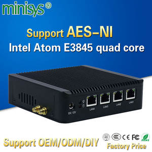 Minisys 4 Lan pfsense minipc Intel atom E3845 quad core mini itx motherboard linux firewall computer host machine support AES-NI