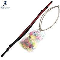 5.4M Carbon Fishing Dip Net Retractable positioning Fishing Brail net 70cm Depth 52cm Ring 5 Session 4.8M Handle Fishing Dip Net