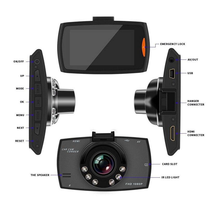 Image 3 - 6 IR светодиодный 1080 P Автомобильный видеорегистратор камера видеорегистратор Автомобильный видеорегистратор 2,7 дюймов ночного видения видеорегистратор для автомобиля-in Видеорегистратор from Автомобили и мотоциклы