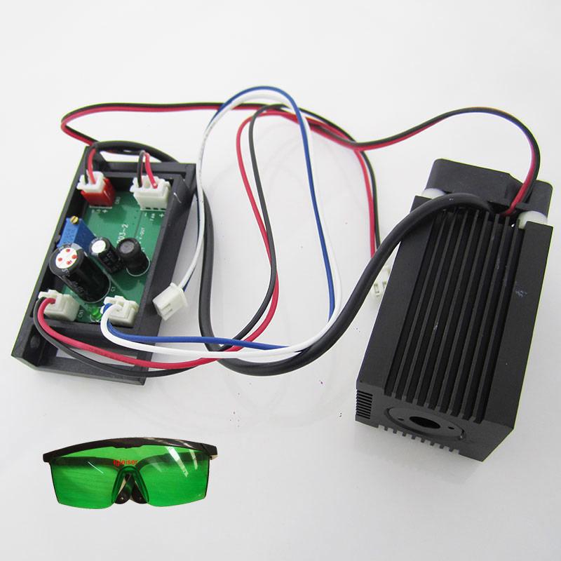 400mW 638nm Red laser module 12V TTL Diode laser driver board for DIY RGB stage lighting free glasses