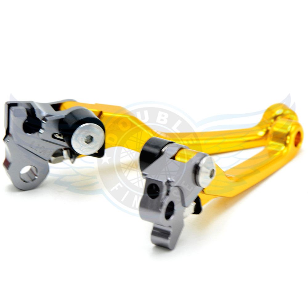 ФОТО motorcycle accessories folding Pivot Levers Brake Clutch  cnc golden For Suzuki RM 85  2005 2006 2007 2008 2009 2010 2011 2012