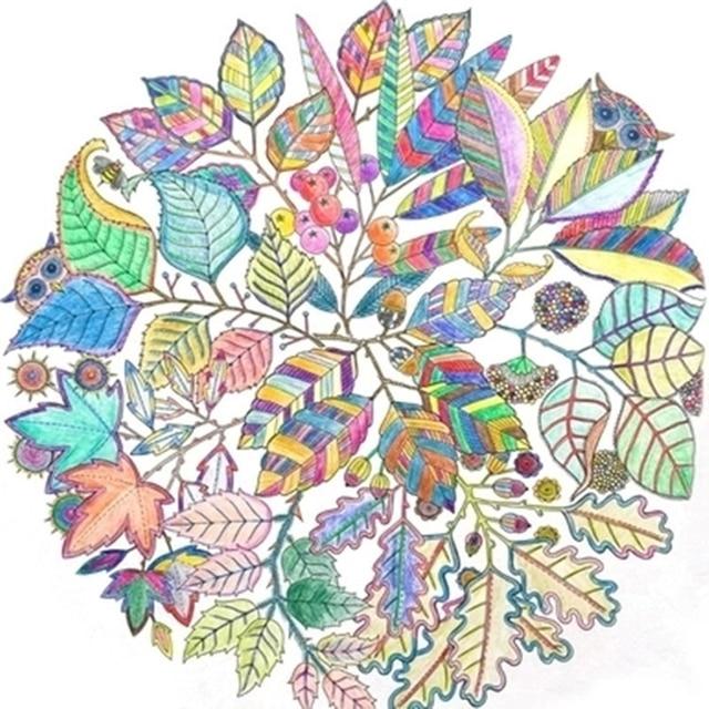 36 46 Jardin Secret 4 Livres 24 La Racine Couleur Crayon Adulte Réaction Coloration Livre Antistress Graffiti Peinture Dessin Livre De Coloriage