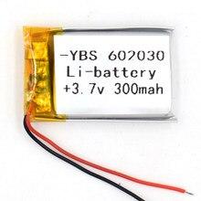 5pcs 3.7v 300 mah li-polímero bateria recarregável 602030 li po íon para gps bluetooth mp3 mp4 mp5 relógio 062030