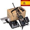 Новый Черный Baofeng УФ 5RA + Плюс Рация 136-174 и 400-520 МГц Двухстороннее Радио акции в испании-корабль ПИСЬМО-только 3 дней получать