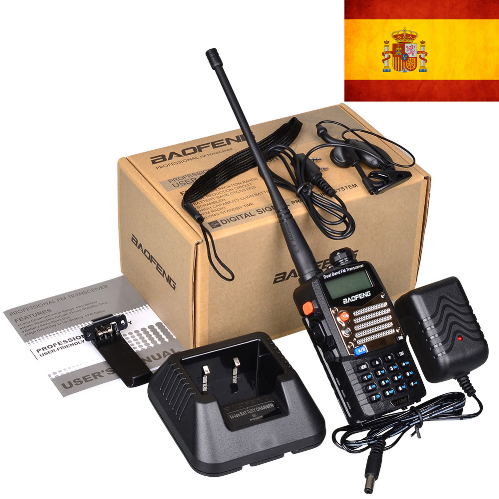 New Black Baofeng UV 5RA+Plus WalkieTalkie 136-174&400-520MHz Two Way Radio stock in spain-ship by LETTER-only 3 days recieve