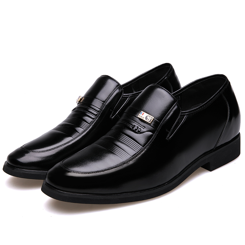 MUHUISEN Mens Height Increasing Shoes Genuine Leather Classic - Men's Shoes - Photo 5