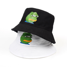 Новинка, Мужская популярная шляпа от солнца, с принтом в виде унылой лягушки, рыбацкая Панама, кепка Bob Chapeau, хлопковая брендовая летняя Панама для женщин, хип-хоп