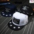 Belababy 2016 NEUVO Estrelas Casual Esporte Snapback Caps-Hip pop Plana Abas Largas Chapéus Para Mulheres Dos Homens Frete Grátis