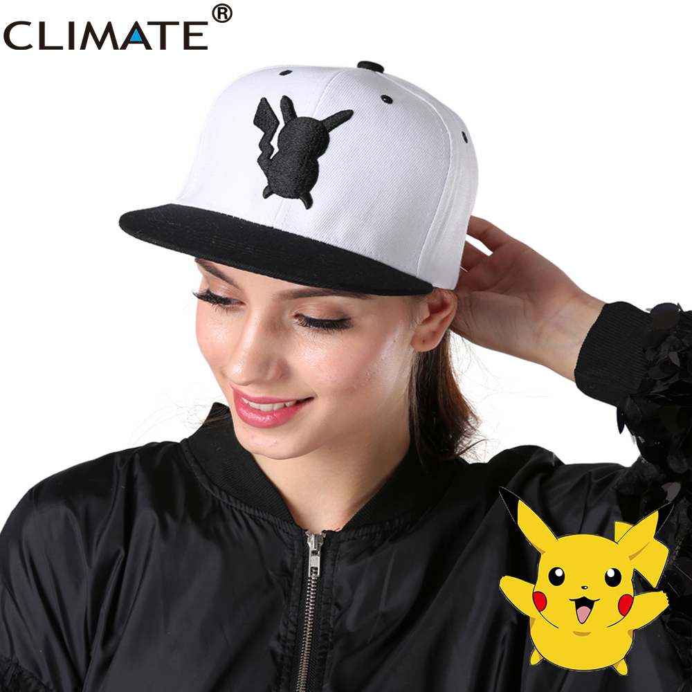 CLIMATE 2017 Game Lovely Pocket Monster GO Pikachu Mewtwo Gotcha Flat Snapback Caps New Adult Men Women Pocket Monster Hat Caps climate 2017 pocket monster go game pikachu flat snapback caps adult men women animation cartoon cute comic orange eevee hat cap