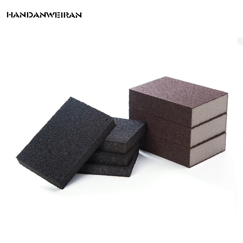 2Pcs Nano Black Sponge Magic Power Clean Cleaning Melamine Magic Eraser Emery Sponge Wash Pan Wipe10*7*2.5/10*6.9*1.3CM