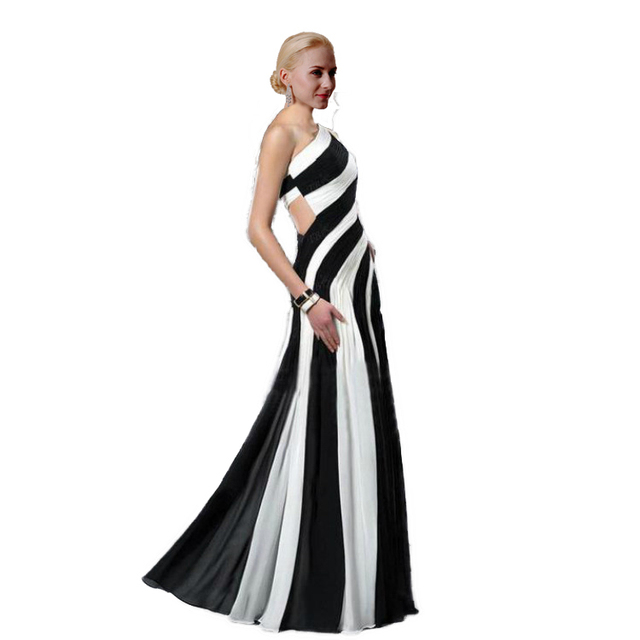 New Chiffon Prom Dress Under 50 Ankle Length One Shoulder Beach Sexy