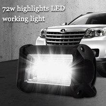 Светодиодный светильник для автомобиля и мотоцикла, экскаватора, инженерного транспортного средства, вспомогательный Точечный светильник, рабочий светильник, светодиодный фонарь