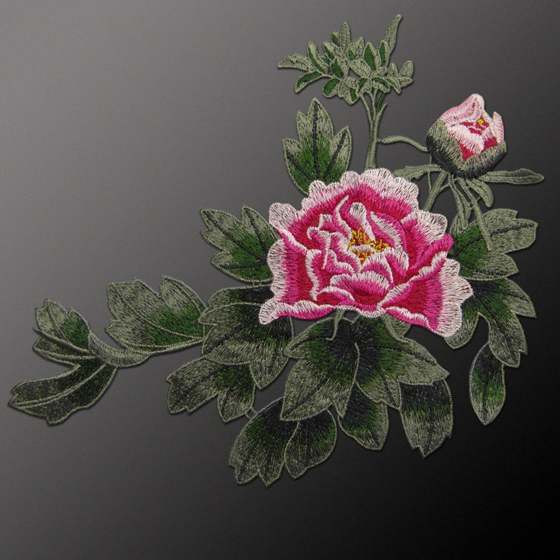 AHYONNIEX markë e qepur në Peony Flower Patches Lule Decal Sticker - Arte, zanate dhe qepje - Foto 3