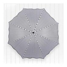 Модные женские туфли складные зонты Классические черные и белые линии солнечный и дождливый зонтик Малый Портативный зонтик от солнца зонтиком
