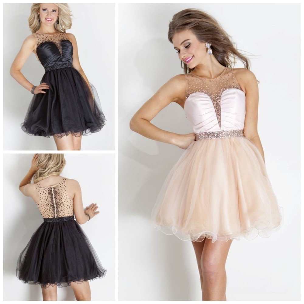 Exqusite New Arrival Elegant Tulle Beaded Short Cocktail Dresses A Line Off Shoulder See Through Mini Party Dresses E032