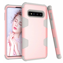 купить Phone Case For Samsung Galaxy S10 S10 Plus Cases Armor PC Back Cover TPU Silicon Bumper Note 9 8 S9 S8 Case Shockproof Coque дешево