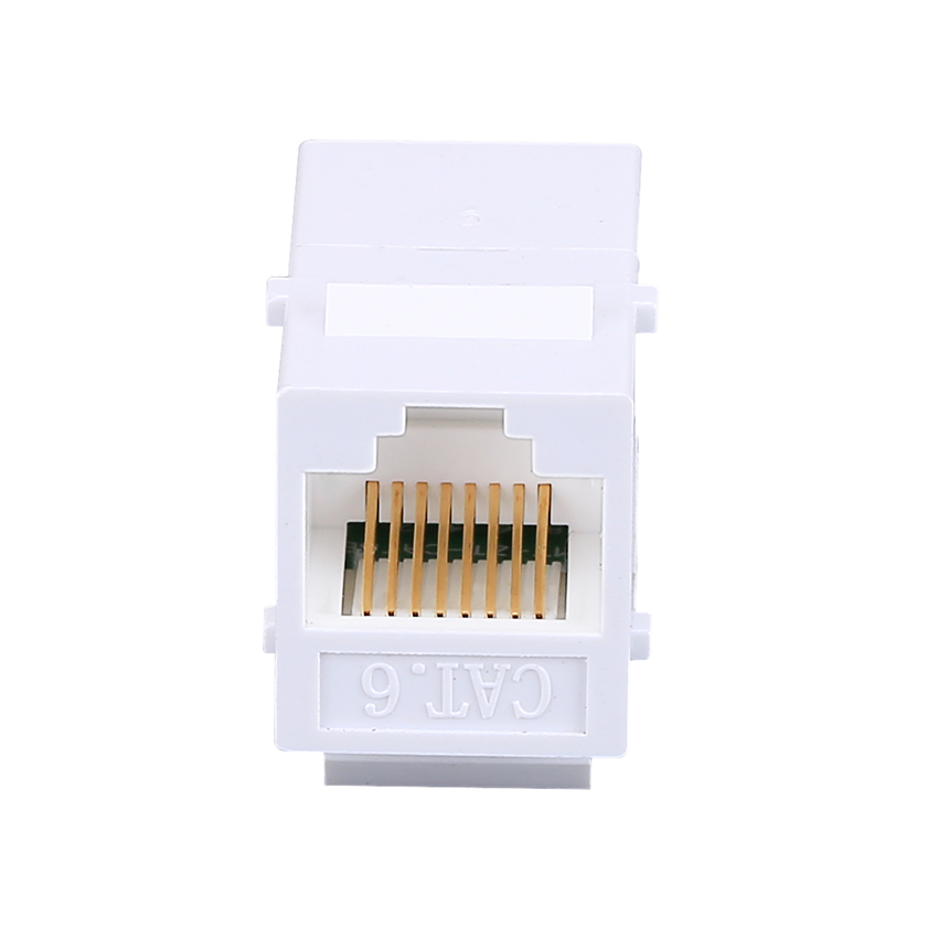 2pcs CAT6 Ethernet Cable Extender end-to-end Adapter 8P8C RJ45 Adapter Network through Extension CAT6 Module for Empty Panel