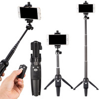 Extendable Self Wireless Remote Stick+40 Inch Monopod+Tripod+Universal Phone Stand Holder For iPhone X 6S 8 7 Plus/For HUAWEI