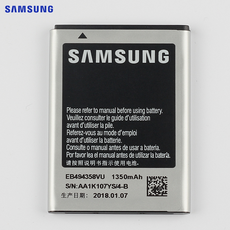 SAMSUNG Original Ersatz Batterie EB494358VU Für Samsung Galaxy Ace S5830 S5660 S7250D S5670 i569 I579 GT-S6102 S6818 1350 mAh