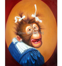 High Quality Oil Painting Dress Monkey #002 20x36 Inches