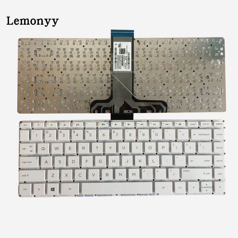 New US Laptop Keyboard For HP Pavilion 14-ax 14-ax000 14-ax100 901658-031 NSK-CX3SQ English White Without Frame Keyboard