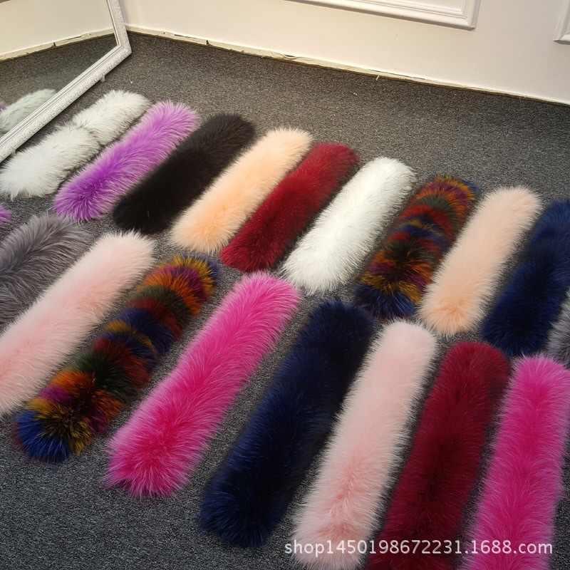 Мода Дикий Горячий шарф шаль зима новый меховой головной убор и воротник настоящий Енот меховой воротник шарф Набор для женщин и мужчин