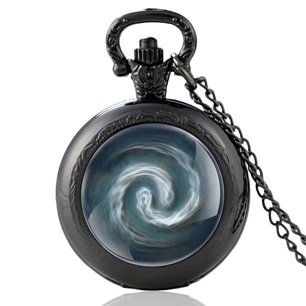 FAITHEASY Fullmetal Alchemist Pocket Watch Cosplay Edward Elric Anime Design Pendant Necklace Chain Boys Christmas Gift