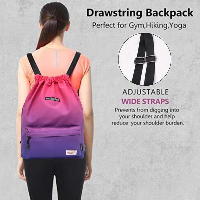Bag  Summer Waterproof Gym Bag Sports Bag Travel Drawstring Bag Outdoor Bag Backpack for Training Swimming Fitness Bags Softback 5