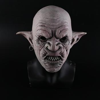Nowe fajne gobliny maska z kolczykami na uchu Halloween Horror maska przerażająca impreza przebierana rekwizyty do cosplay mężczyzn lateksowa straszna maska tanie i dobre opinie Kostiumy Goblins Unisex Dla dorosłych Maski Latex