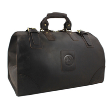 Letrend Manual Retro Crazy Horse Skin Men's Travel Bag Large Capacity Genuine Leather Vintage Suitcases Luggage Bags Trolley