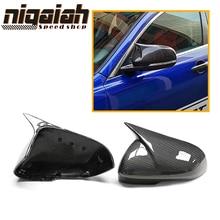 цена на 1:1 Replacement for Jaguar XE XEL  XF XFL XJ XK 2009-2018 Carbon Fiber Mirror Covers Rear rearview mirror M LOOK