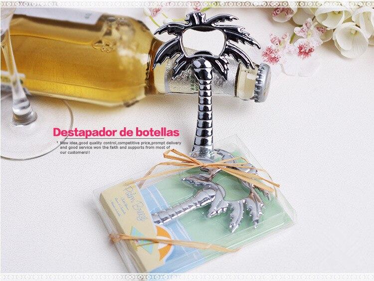 Envío Gratis 50 unids/lote creativo árbol de coco en forma de abridor de botella de cerveza abridor con caja de regalo Favor de la boda Regalos de boda-in Obsequios para fiestas from Hogar y Mascotas    1