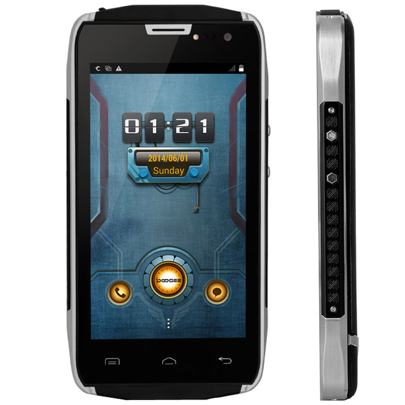 DOOGEE TITANS2 DG700 4.5 inch QHD Android OS 5.0 MTK6582 Quad Core 1.3GHz 8GB+1GB OTG GSM & WCDMA 4000mAh Black